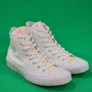 Converse Hi-Vis UNT1TL3D Mens White Sneaker NWT